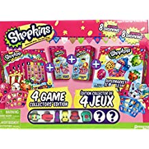 Shopkins Collections Of 4 Games Edition All-In -One, Includes The Most Popular Shopkins Games For All Shoppies! Also Includes 8 Shopkins' Supermarket Characters. A Must-Have Toy And Gift for All Little Shopping Fans For All Seasons!