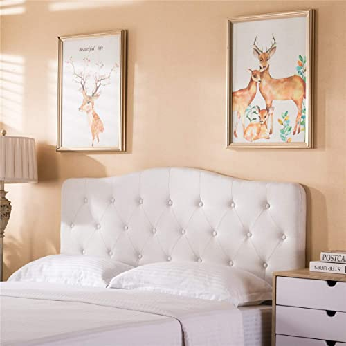 Tufted Headboard Queen Bed Upholstered Headboard Ivory