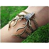 Jirong style antique Bronze Bois de Cerf pendentif Bijoux bracelet chaîne Bracelet Vintage SL2270