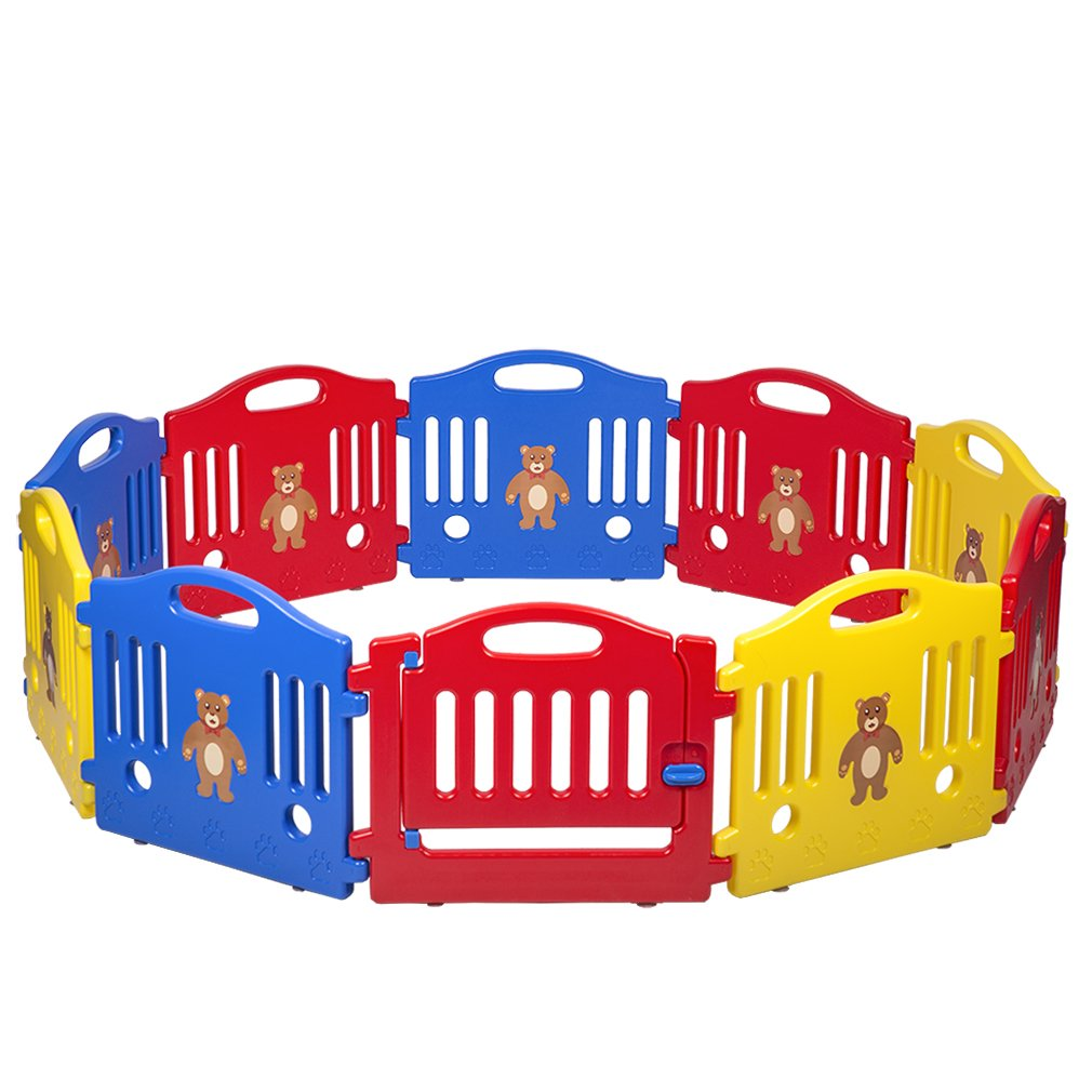 10 Panel Safety Play Center Yard Baby Playpen Kids Home Indoor Outdoor Pen by BestMassage (Image #2)