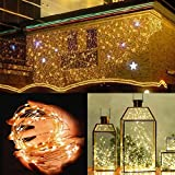 Han Shi- Holiday LED String Lights, Outdoor Waterproof, Warm White, UL Certified, Remote Control, Perfect for Bedroom, Patio, Christmas, Decorative Firefly Lights (10M 100Lights(B))