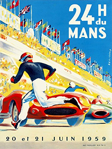 SPORT MOTOR RACE 24 HOUR LE MANS FRANCE 30X40 CMS FINE ART PRINT POSTER - Mail To France First Class