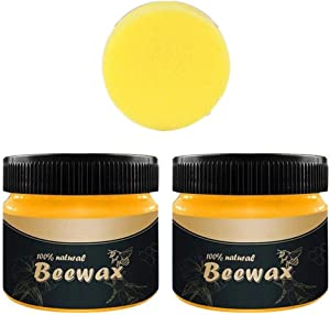 DDLmax 2PCS All-Purpose Household Cleaners, Wood Seasoning Beewax Complete Solution Furniture Care Beeswax, Safe to use on All Types of Treated Wood