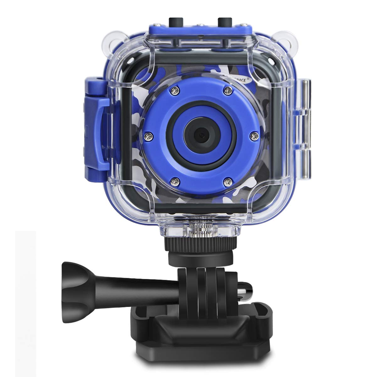 DROGRACE Kids Camera Waterproof HD Action Cam Digital Camera 1080P Underwater Sports Camera Camcorder DV for Girls Boys Birthday Holiday Gift Learn Camera Toy with 1.77 Inch LCD Screen (Blue)