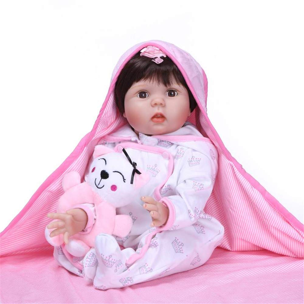 ZIYIUI Realista Ni/ña Reborn Beb/é Mu/ñecas Ni/ñita Silicona Toddler Mu/ñecos Reborn Babys Dolls Ni/ños Juguetes Conjunto 22 Pulgadas Las mu/ñecas Pueden parpadear
