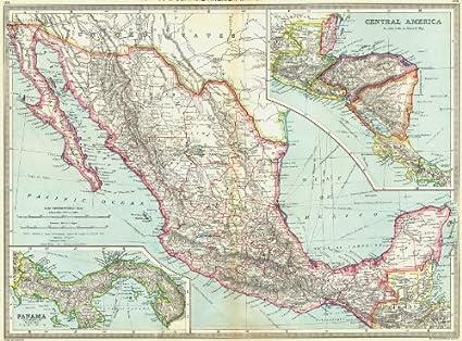 Honduras Mexico Map.Amazon Com Mexico Belize Honduras Guatemala Nicaragua Costa Rica