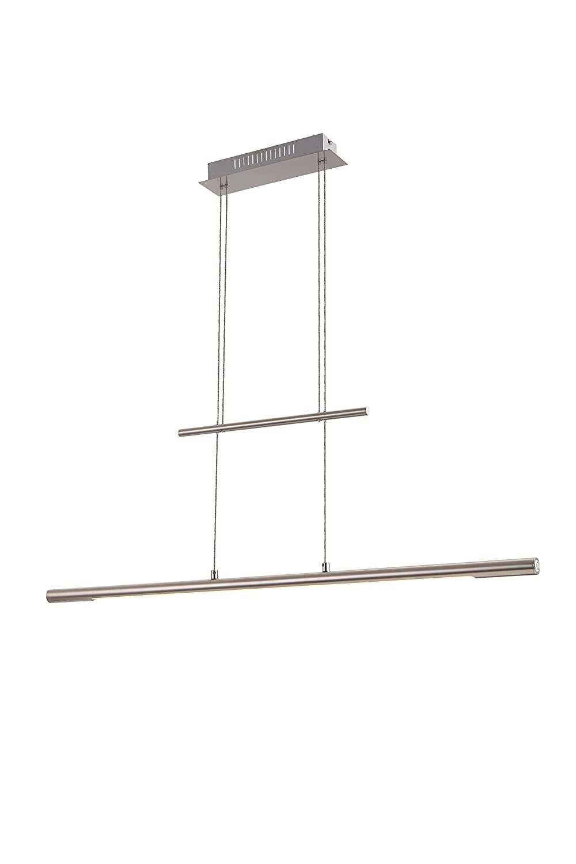 Praktische LED Hängeleuchte nickel matt Acryl satiniert 24W Globo SICILIA 58094Z