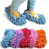ChineOn - Pantuflas limpiadoras de suelo, color azul celeste