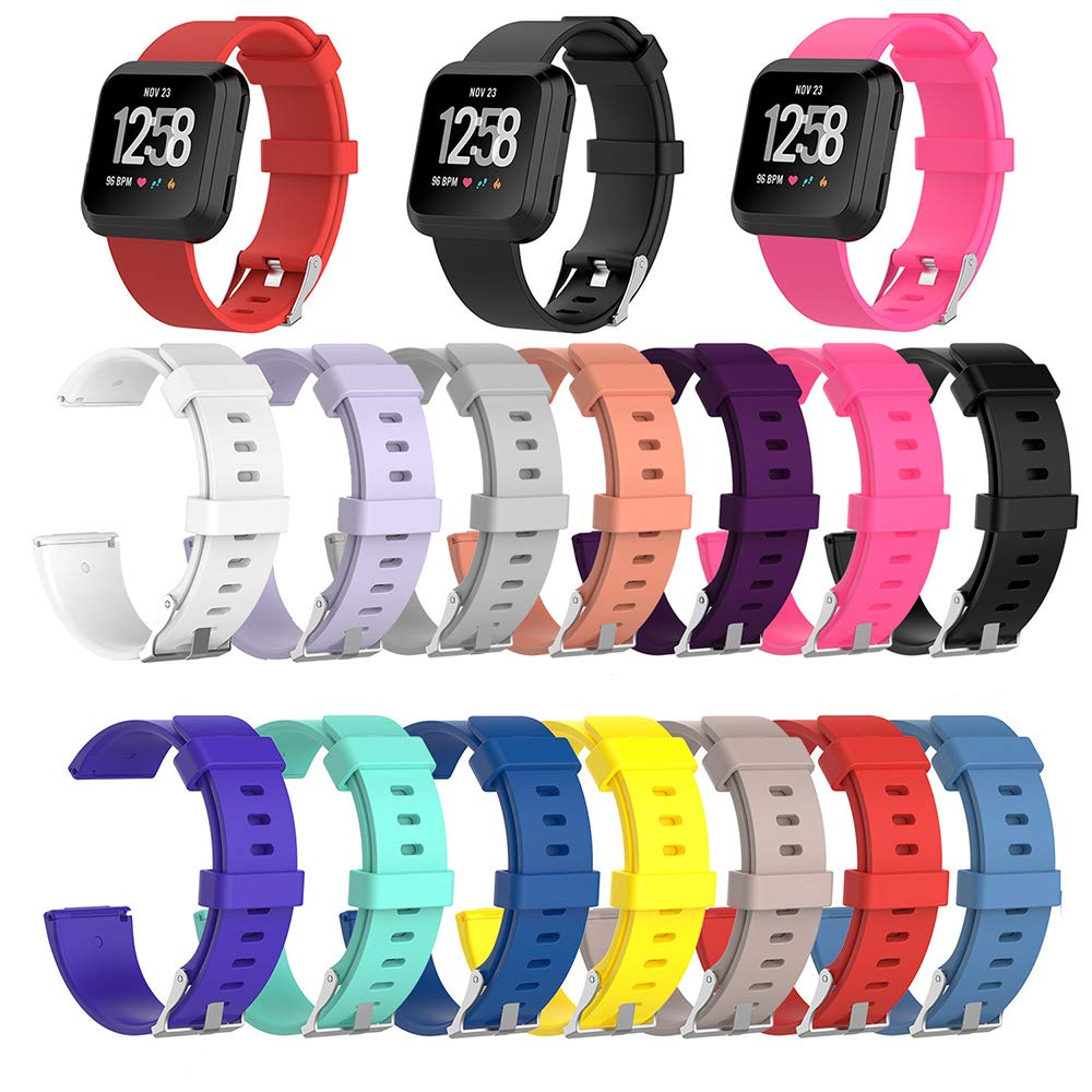 14 PKS Colorful Replacement Strap Wristbands Accessory Compatible for Fitbit Versa- Replacement Band Only [Large]