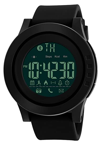 Amazon.com: Mastop Smart Watch Pedometer Calories Bluetooth Clocks Waterproof Digital Outdoor Chronograph Sports Watches (Black): Cell Phones & Accessories