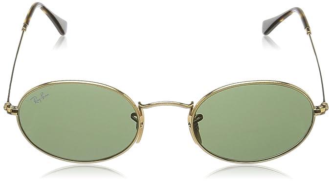 Amazon.com: Ray-Ban anteojos de sol lente plana ovalada ...