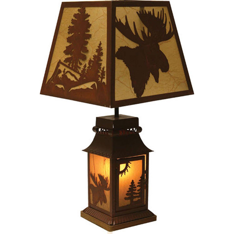 Rivers edge 20 inch moose table lamp lamps amazon canada aloadofball Gallery