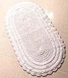 "24x40"" Reversible Cotton Rug (White)"