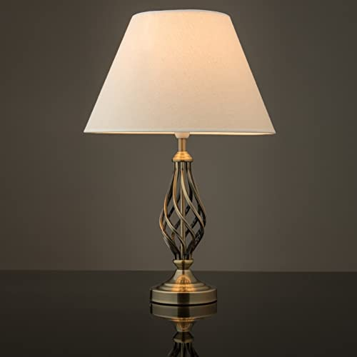 Funky table lamp amazon kingswood barley twist traditional table lamp antique brass aloadofball