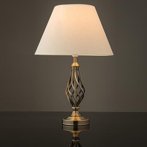 Kingswood barley twist traditional table lamp antique brass kingswood barley twist traditional table lamp antique brass aloadofball Images
