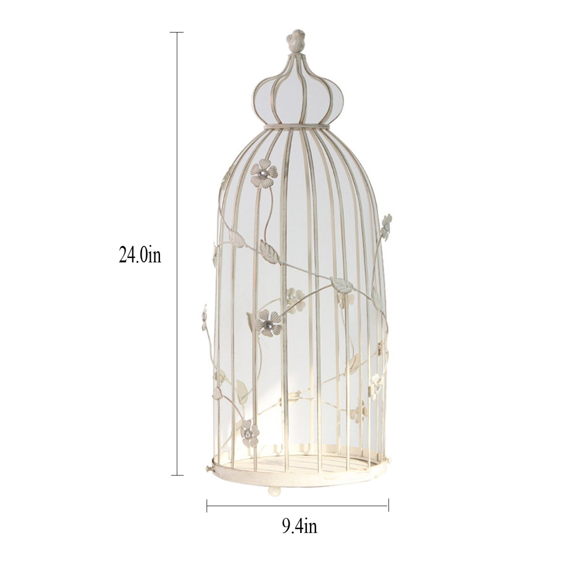 L;IAN Flower Pot Rack cage Bird Iron Candlestick Flower Stand Decoration Home Living Room Decorations Crafts