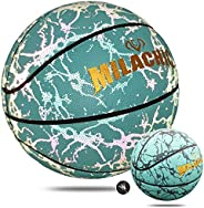 MILACHIC Holographic Basketball Official Size 7/29.5in, Reflective Glowing Basketball Special Basketball Gifts