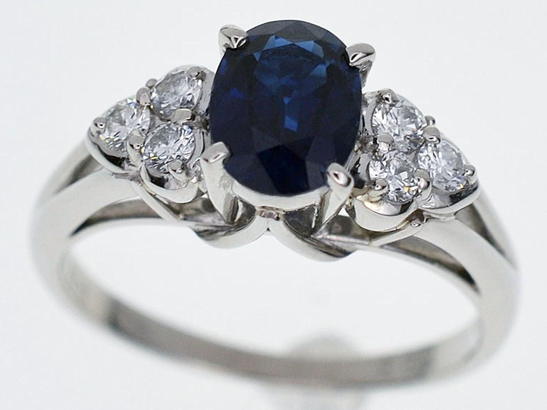 (ミキモト) MIKIMOTO ブルーサファイヤ(S1.33ct) ダイヤ(D0.228ct) リング Pt900 プラチナ 日本サイズ約13号 #53 鑑別書 27420607 B077C27W7L