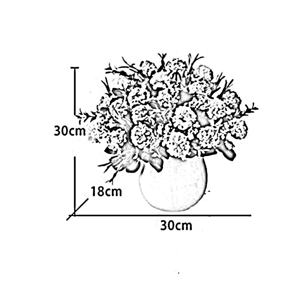Small A SED Creative Wall Hanging Ornament Hydrangea Simulation Flower Suit European-Style Fake Home Living Room Table Decoration Vase Retro Art
