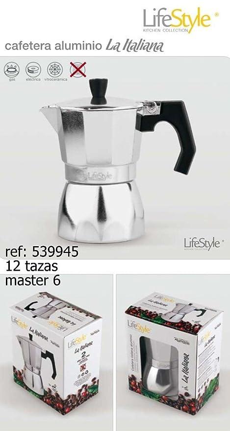 Lifestyle-Cafetera italiana aluminio 12 tazas