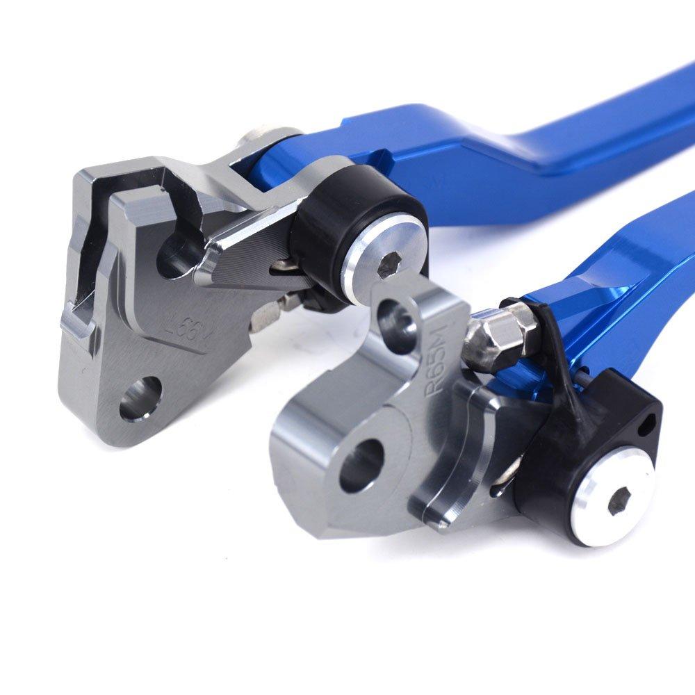 Blu JFGRACING Billet Pivot Leva freno frizione pieghevole per Yamaha WR250R WR250X 07-17 SEROW225 250 86-15 TTR250 93-97