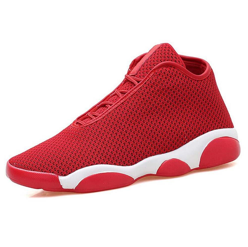 MYI Zapatos de Hombre Tulle Primavera Otoño Zapatos Deportivos Zapatillas de Baloncesto Junta Dividida Para Negro Azul Rojo 43 EU|Rojo