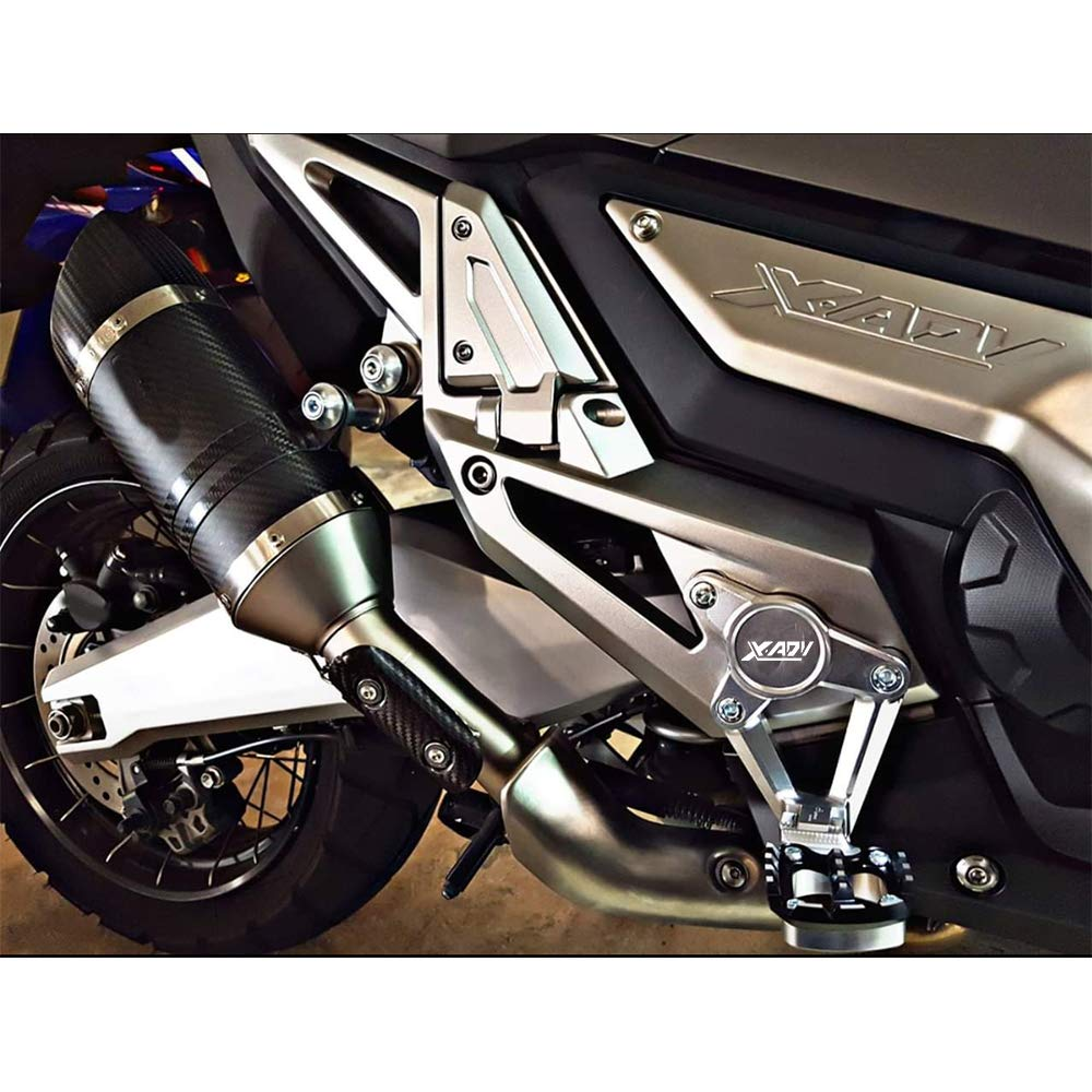 Gray+Blue X-ADV Motorcycle Kickstand Side Stand Enlarger Extension Enlarger Pate Pad For Honda XADV X-ADV 750 2017 2018