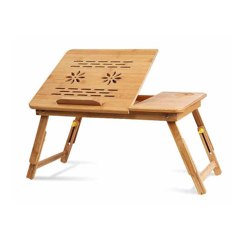 CJC テーブルチェアセット 机 表 トレイ 100% ポータブル 竹 ラップトップ スタンド 折りたたみ可能 ノート トレイ ベッド 花 スタイル 設計 遊びます ゲーム に ベッド 表 (色 : 1) B07FXQ212Z  1