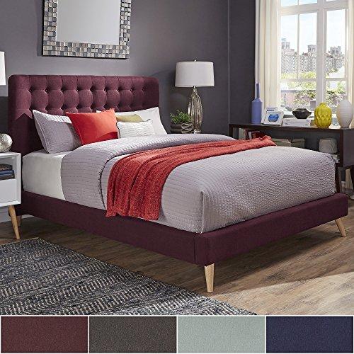 Inspire Q Niels Danish Modern Tufted Fabric Upholstered Full Size Bed Modern 61LdXnlKOZL