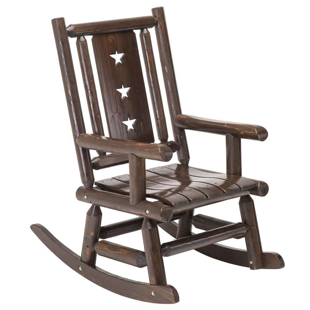Amazoncom Wood Outdoor Rocking Chair Rustic Porch Rocker Heavy