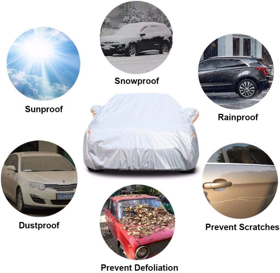 ZHXMI Aluminium /Étanche Voiture Couvre Super Soleil Protection poussi/ère Pluie Voiture Couverture Complet Universel Auto SUV de Protection pour Lada-Granta