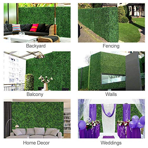 GorgeousHome Artificial Hedge Plant Panels, Privacy Screen Hedge,Greenery Ivy Privacy Fence Screening for Both Outdoor or Indoor Decoration,20