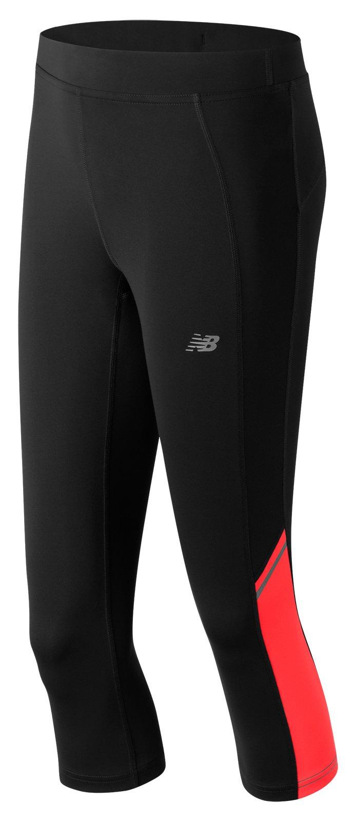 New Balance Women's Accelerate Capri Pants, X-Small, Energy Red