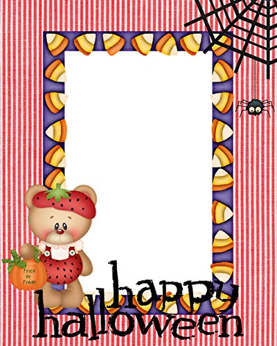 LAMINATED 24x30 POSTER: Bear Corn Spider Web Halloween Frame Happy Background Vector Card Holiday Cartoon Celebration October Scary Greeting Decoration (Halloween Frame Vector)