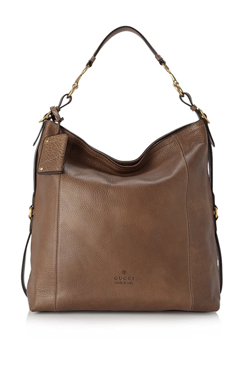 Amazon.com  Gucci Harness Leather Hobo Maple Brown Leather Gold Horsebit  Hardware  Shoes bc3042f87bf23