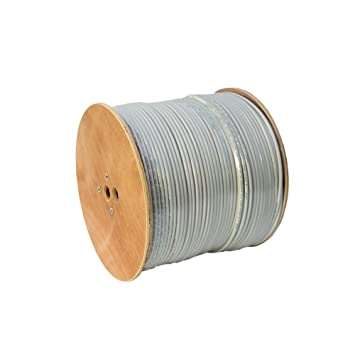 Cable coaxial (135 dB, 5 capas de apantallamiento), cobre de 500 metros