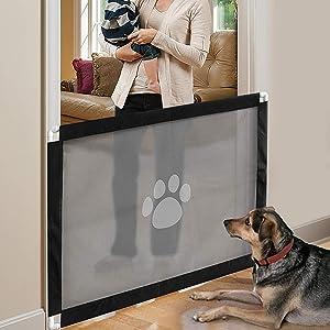 iPawde Magic Gate para Perros, Caja de Seguridad para Perros, fácil de Instalar y