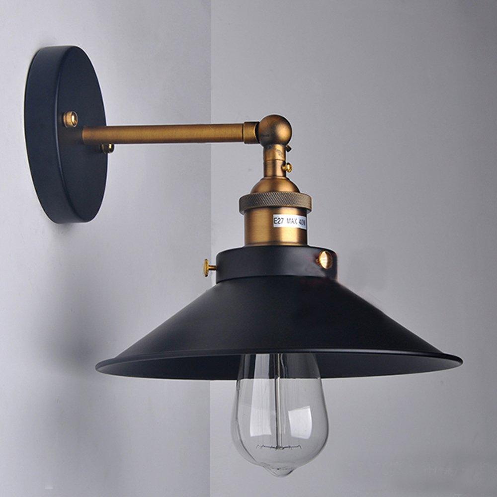 Winsoon modern vintage industrial rustic bar loft black metal pendant ceiling wall sconces lights fixtures amazon com