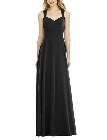b401069fc0 CLOTHKNOW Bridesmaid Dresses Long Shoulder Straps Black Sweetheart Tank Top