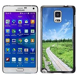 Be Good Phone Accessory // Dura Cáscara cubierta Protectora Caso Carcasa Funda de Protección para Samsung Galaxy Note 4 SM-N910 // Nature Beautiful Forrest Green 50