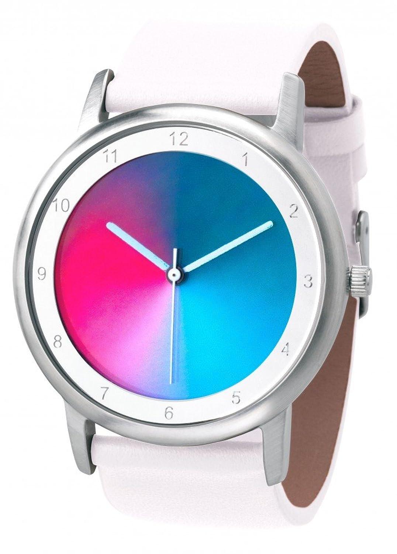 Avantgardia gamma - (NEUES DESIGN) – Rainbow e-motion of color Unisex Armbanduhr EdelstahlgehÄuse