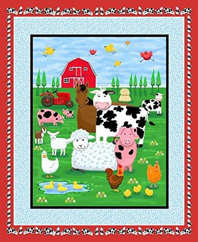 Farm Life Large Panel Cotton Fabric 36 X 44 Inches (Farm Panel)
