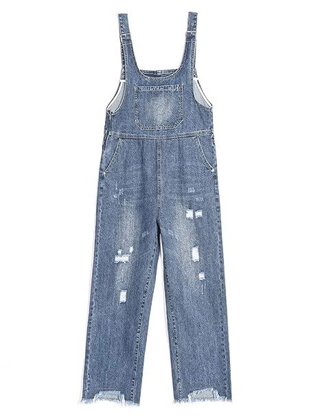 Amazon.com: Omoone - Mono de jean suelto para mujer: Clothing