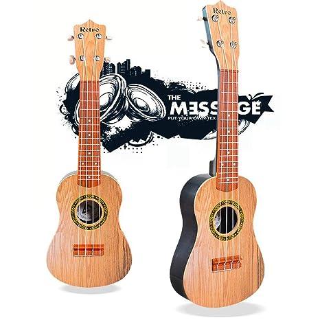 Ceepko - Guitarra musical de madera con 4 cuerdas, instrumentos ...