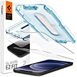 "Spigen, 2 Pack, Screen Protector for iPhone 12 / iPhone 12 Pro (6.1""), Glas.tR EZ Fit, Installation Kit Included, Case…"