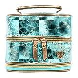 PurseN Prima Weekender Jewelry Case (Small, Metallic Turquoise)