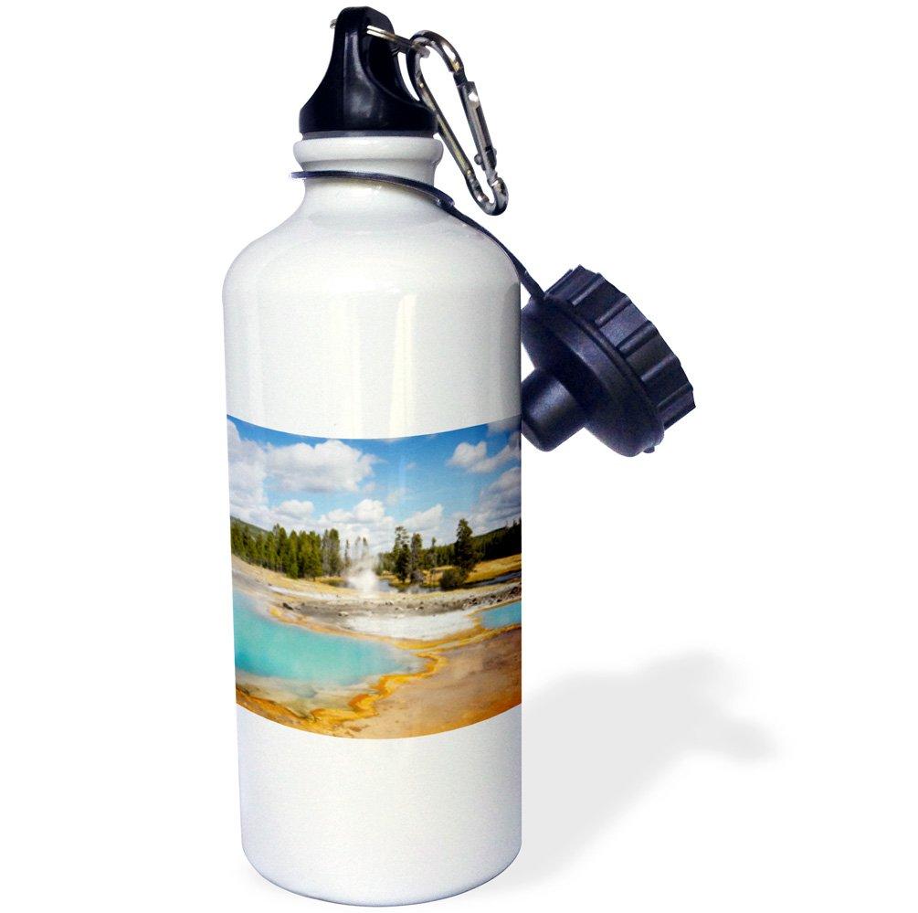 21 oz 3D Rose 1 wb/_231960/_1 Sports Water Bottle White