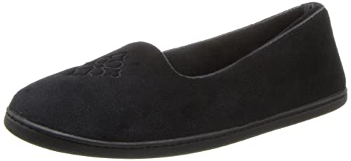 Dearfoams, Pantofole donna taglia unica, Nero (Black), 47,5 EU