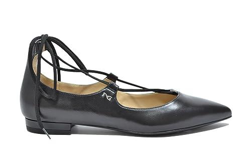 incontrare 2b5fe f832f Nero Giardini Ballerine stringate nero 7420 scarpe donna ...