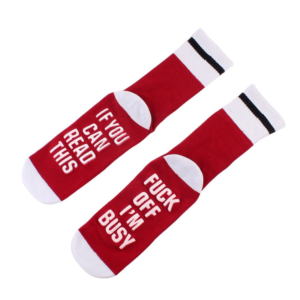 Fun Inserting Gift Ideas ADSRO If You Can Read This Unisex Funny Socks Combed Cotton Wine Coffee Beer Socks Christmas Couple Gift